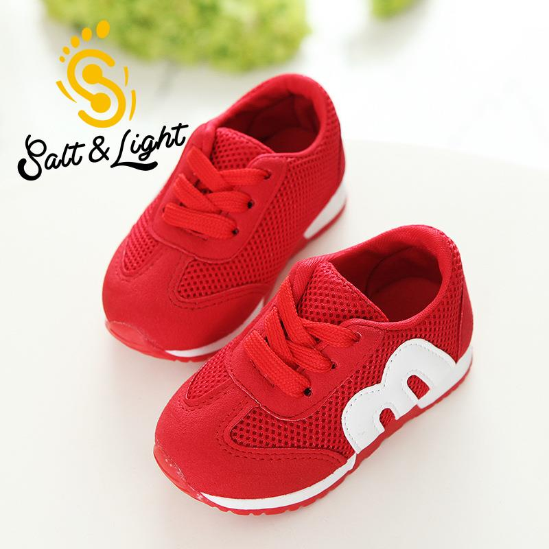 6797f618149 Autumn hot sale children s M shoes alphabet mesh casual running kids shoes  sports non slip fashion sneakers for girls boys 21 30-in Sneakers from  Mother ...