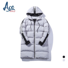 ACEMIRIZ 2017 New Clothing Jackets Casual Long Thick Winter Coat Men Solid Parka Fashion Overcoat Outerwear T30