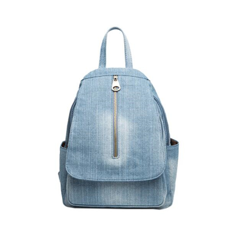 2020 Fashion Women Handmade Denim Backpack Casual Large Size School Bags For Girls Laptop Bags Drop Shipping MN1261