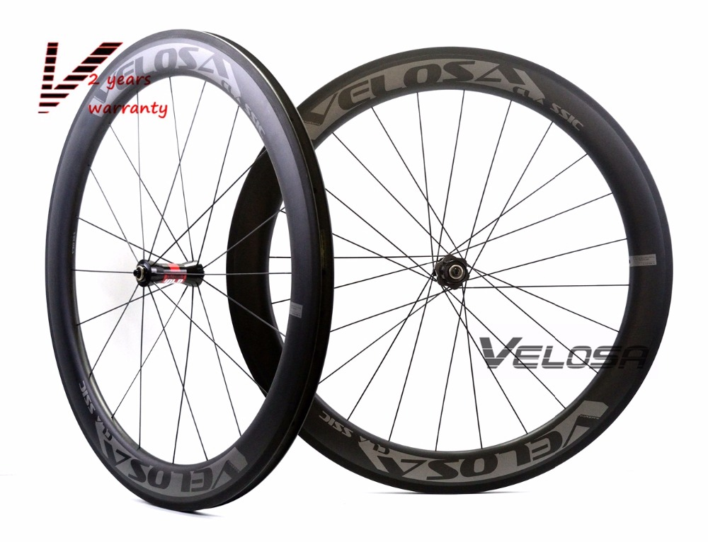 Velosa RACE 60 road bike 700C carbon wheels,60mm clincher/tubular,DT 240S hubs Sapim cx ray super light aero wheelset velosa supreme 50 bike carbon wheelset 60mm clincher tubular light weight 700c road bike wheel 1380g