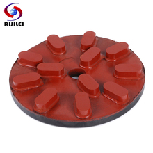RIJILEI 200mm Diamond Resin Polishing Disc 8inch Marble Grinding Plate pad for Granite Concrete RM04