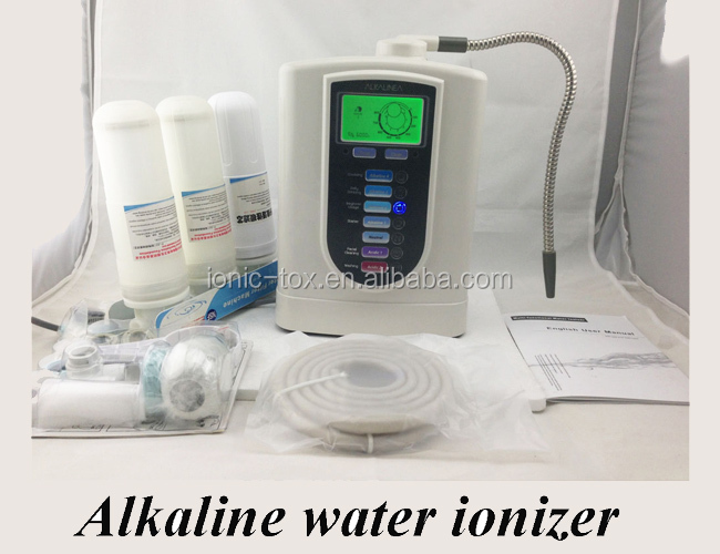 osmosis reverse system alkaline water ionizer WTH-803 with one more PP filter dark colour metal nylon messenger bag
