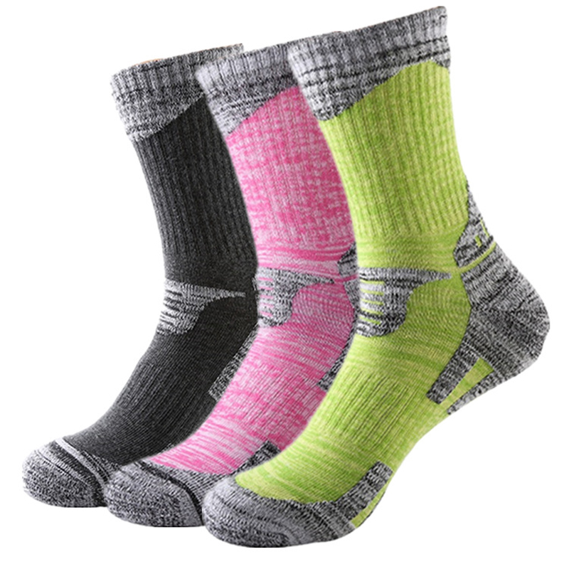 RB037 Men/Women Outdoor Hiking/Skiing socks High-quality assorted colors deodorization terry sports socks for winter 3pairs=1Lot