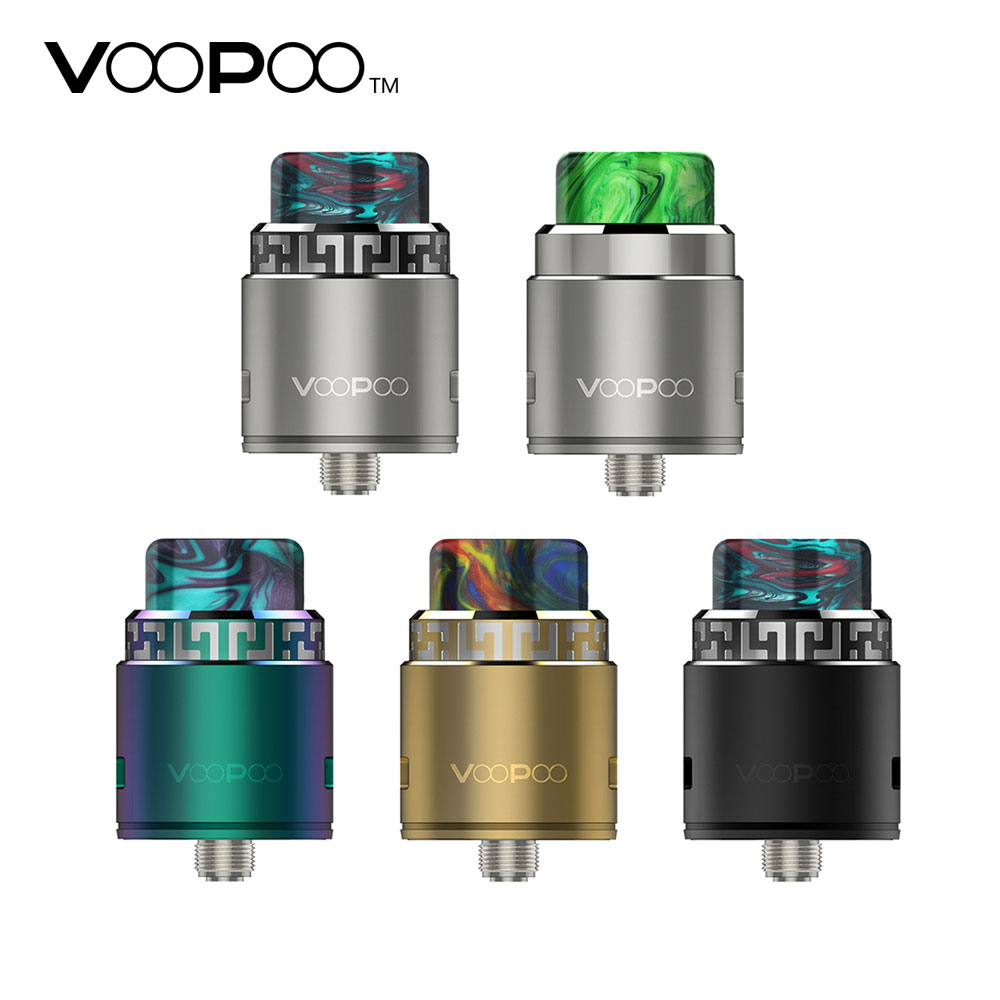 Original VOOPOO Rune RDA Atomizer 26mm Electronic Cigarette Tank Fit Both Squonk and Usual Pin E-Cig Box MOD VOOPOO TOO Vape DIY