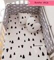Bebé cama cuna parachoques parachoques 1 unids INS caliente infant bed alrededor protección nubes estrellas negro diseño árbol