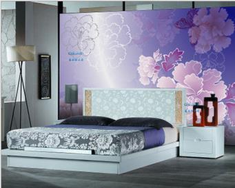 Custom 3d wallpaper True color wallpaper murals    large TV setting wall paper wall of bedroom the head of a bed Обои