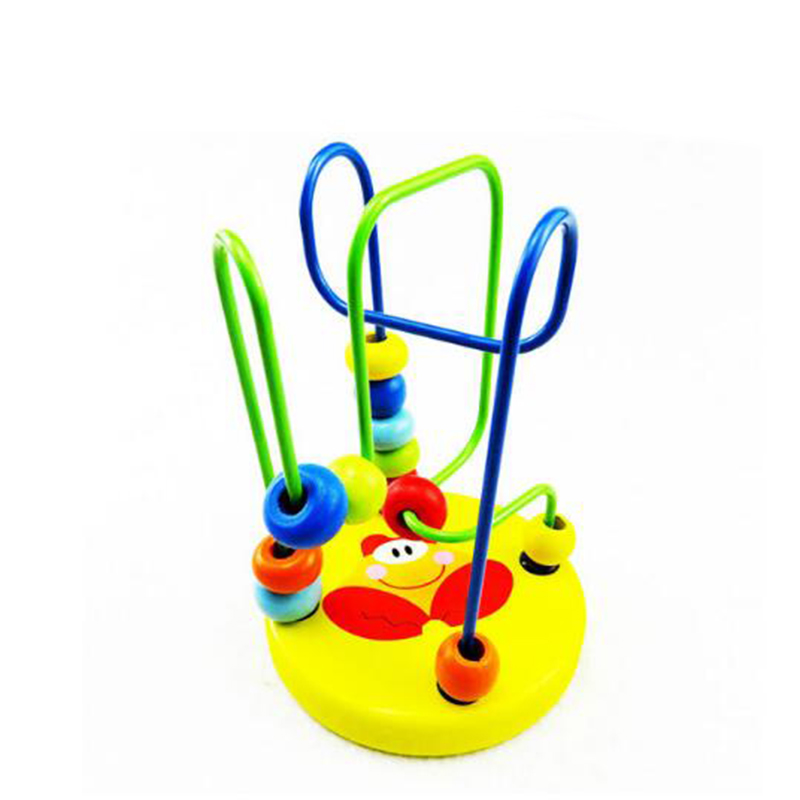 Baby Educational Wooden Around Beads Balls Toddler Infant Toy Gift for Kids Game ...