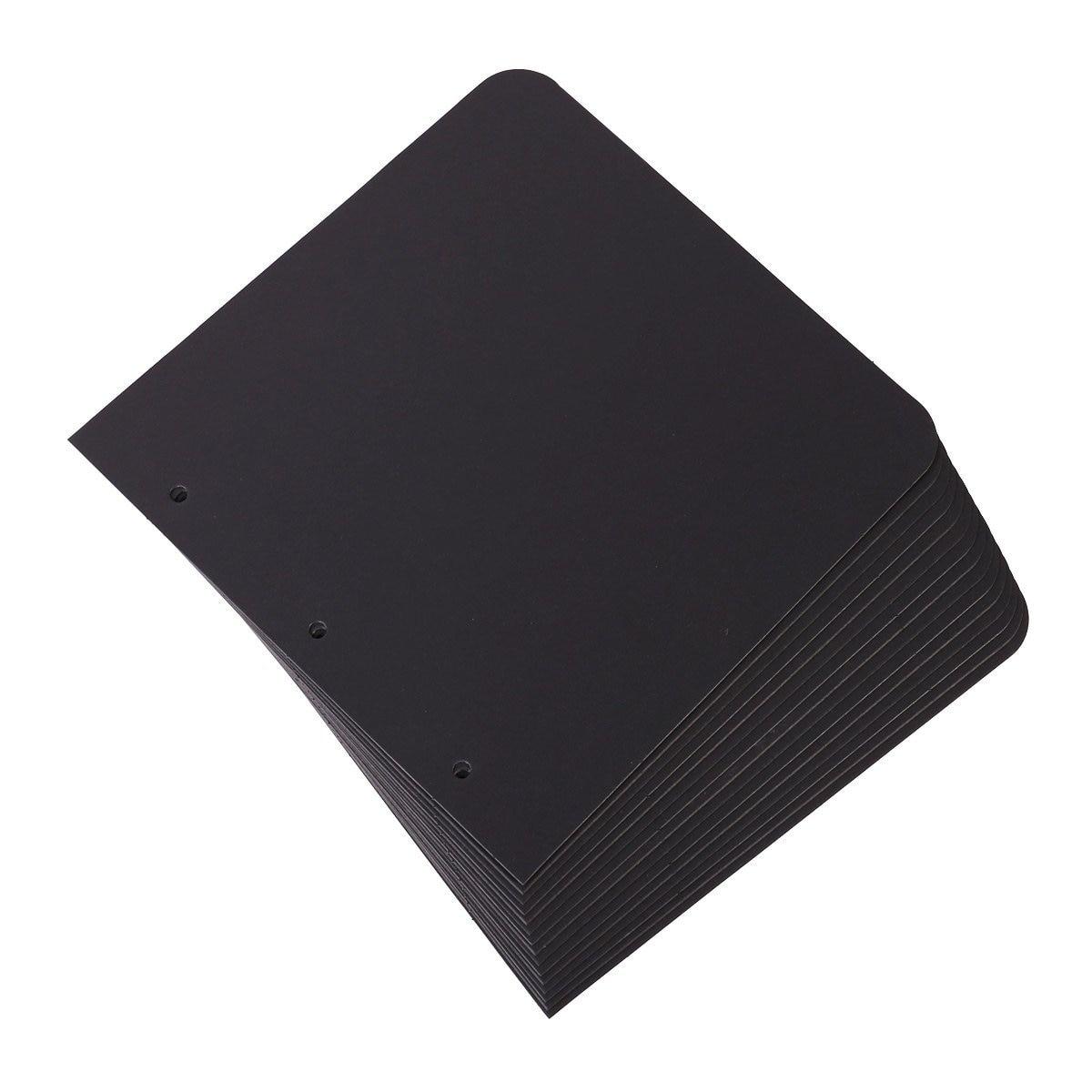 15 Pieces Black Scrapbook Paper For Scrapbook Album Refill Pages 8x8