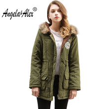 2017 New Winter Coats Women Cotton Hooded Jacket Female Casual Thickening Parka Plus Size hot winter jacket women