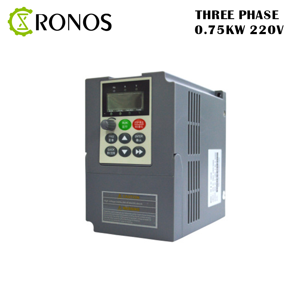 все цены на Three-Phase 220V 0.75KW 5.1A Frequency Inverter Three-phase Input Vector Inverter V8 Series онлайн