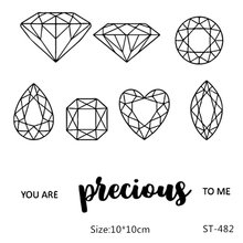 ZhuoAng Brilliant Diamonds Clear Stamps/Seal For DIY Scrapbooking/Card Making/Album Decorative Silicon Stamp Crafts beautiful wedding dress clear stamps transparent seal for diy scrapbooking card making album decorative silicon stamp craft
