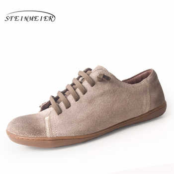Women flat summer shoes genuine leather barefoot Casual Shoes woman Flats ballerinas sneakers Female Footwear spring shoes 2019