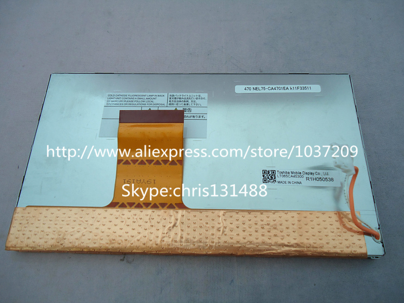 Original LCD Display LTA065B0F0F LT065AB3D300 LT065CA45300 6 5inch screen for Mercedes R series NTG2 5 Navigation