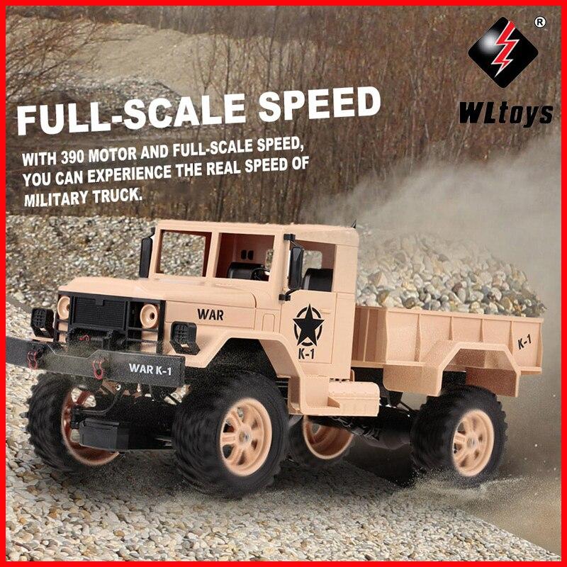 WLtoys 124302 1:12 voiture RC 2.4 GHz 4WD vitesse à grande échelle 1200G charge militaire tout-terrain voiture RC pour débutants jouets pour enfants