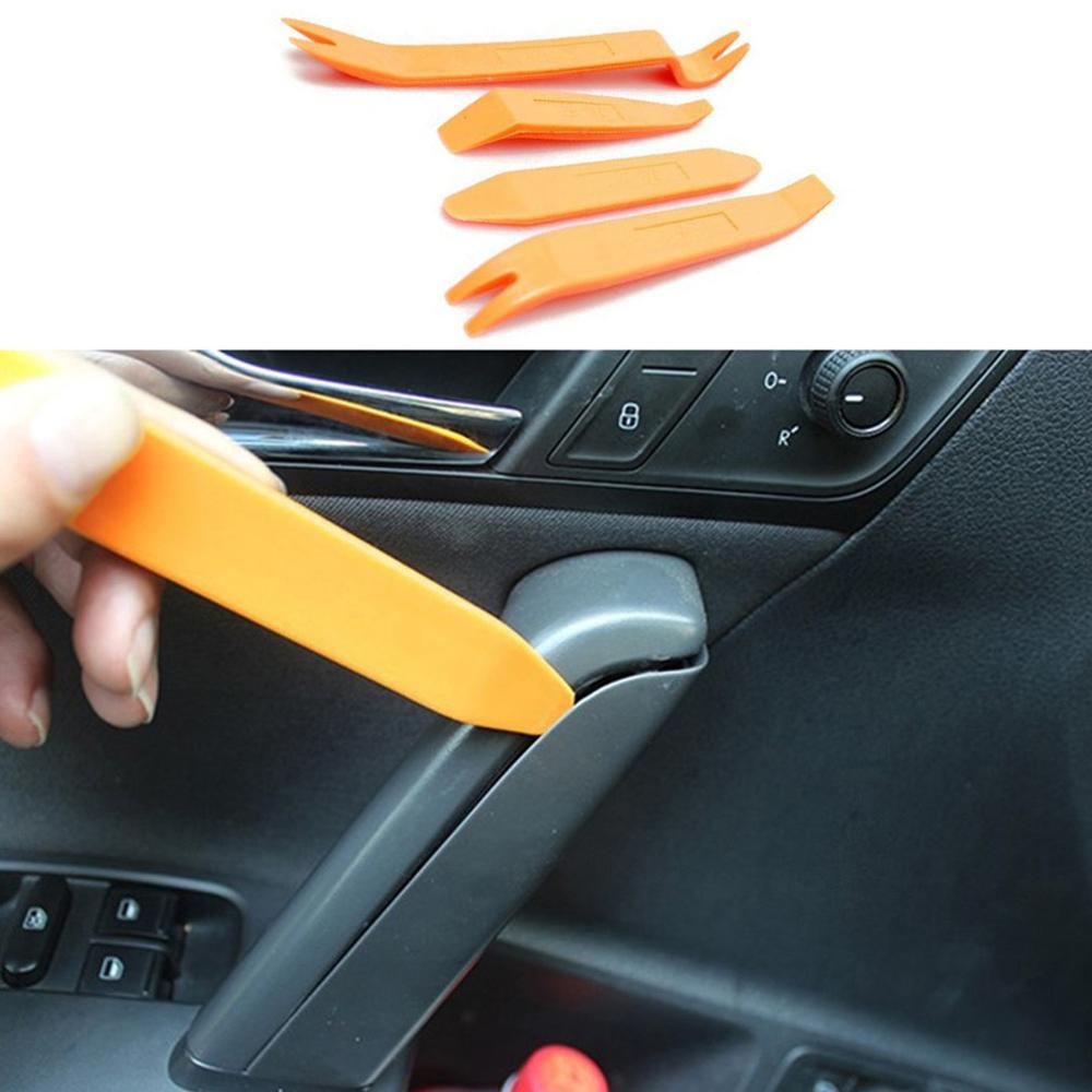 Auto Door Clip Panel Trim Removal Tool Kits Navigation Disassembly Seesaw Car Interior Plastic Seesaw Conversion Tool 4 Sets