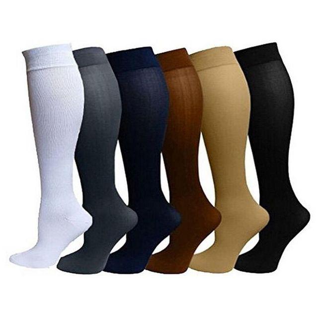 13a1261f5ef david angie Unisex Medical Compression Socks Women Men Pressure Varicose  Veins Leg Relief Pain Knee High Stockings 1Pair