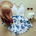 2017 Summer Playsuits Women Sexy Deep V-neck Sleeveless Short Rompers Bodycon Jumpsuit Casual Fashion Overalls S-XL