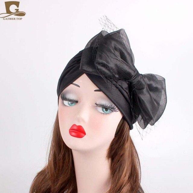 Cheap Women Turban Hat with rose flower embroidery Headband Wrap Chemo  Bandana Hijab Pleated Indian Cap fe3174bee720