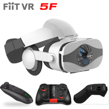 Fiit VR 5F headset model Fan cooling digital actuality glasses 3D glasses Deluxe Version helmets smartphone Elective controller