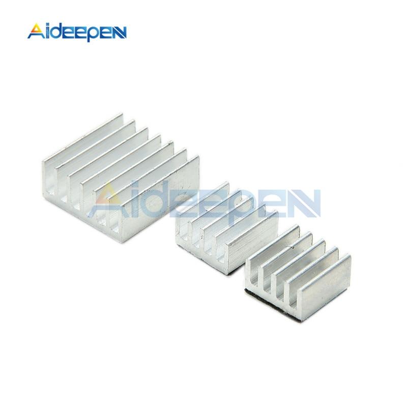 for Raspberry Pi Adhesive Aluminum Heatsink Set Silver Pack of 3
