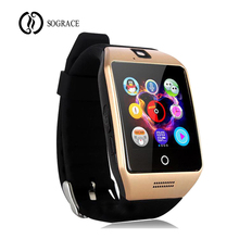 Sograce Q18 Smart Watches Relogio Men's Watch for Xiaomi Samsung HUAWEI Telefon Panggilan 2G GSM SIM TF Kad Kamera android Smart Watch