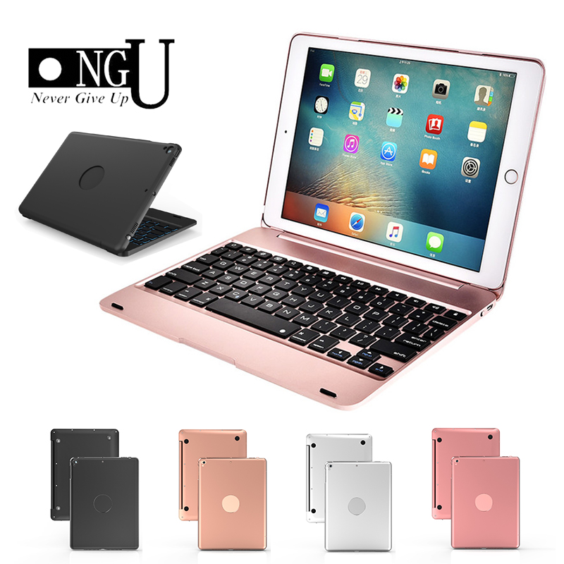 Keyboard Case for Apple iPad 9.7 2017 2018 for iPad 5 6 Pro 9.7 Wireless Bluetooth Keyboard Cover for iPad Air 1 2 Stand Shell image