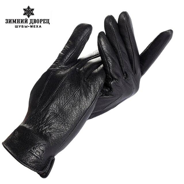 Brands men's gloves,Genuine Leather,Cotton,Black leather gloves,gloves men,driver , Free shipping