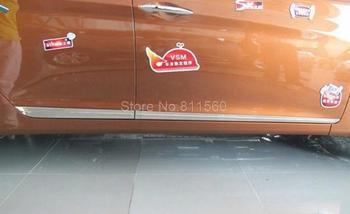 لشركة هيونداي إلنترا 2012 جودة عالية الفولاذ الصلب الخارجي الجانبية القوالب الجانب الجسم الباب الجانبي الديكور 4 قطع