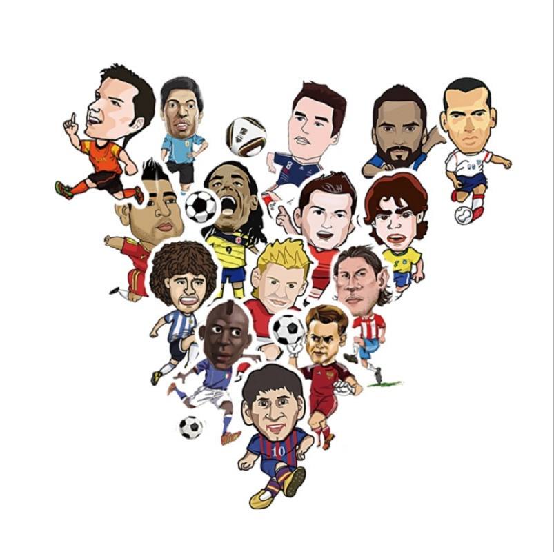 Candid 20pcs/pack Hot Football Star Sticker Cr7 Messi Waterproof Pvc Doodle Stickers For Guitar Skateboard Fridge Bike Car Motorcycle