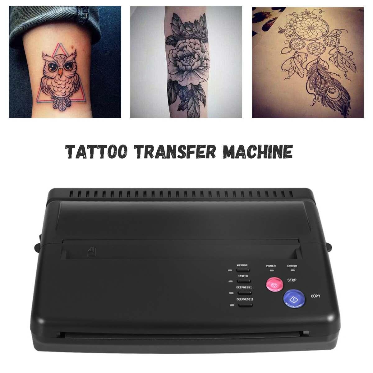 High Speed Tattoo Transfer Copy Machine Printer Drawing Thermal Maker Copier for Tattoo Transfer Paper Supply EU/US Plug Artist