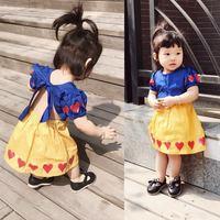 INS * heißen kleinen mädchen snow white tutu kleid mädchen baby mädchen backless bowknot partei kostüm outfit für kinder