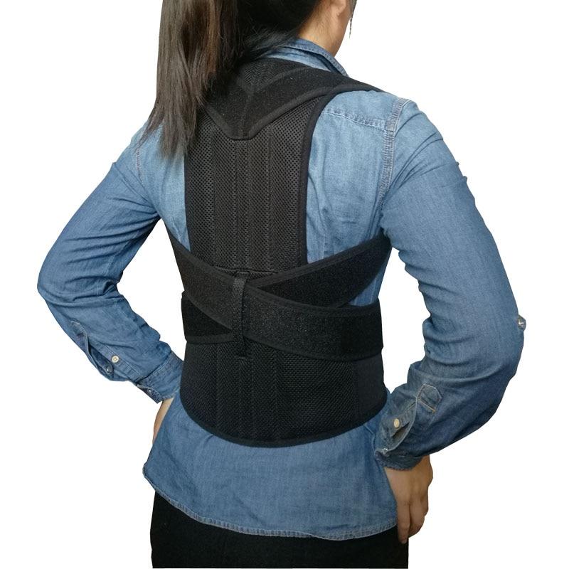 Correction du dos à bosse Posture du dos correcteur épaule colonne vertébrale soutien lombaire ceinture de santé unisexe réglable