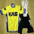 2020 KAS набор Джерси для велоспорта, одежда для велоспорта, комплект из джерси и шорт с гелевой подкладкой, одежда для спорта на открытом возду...