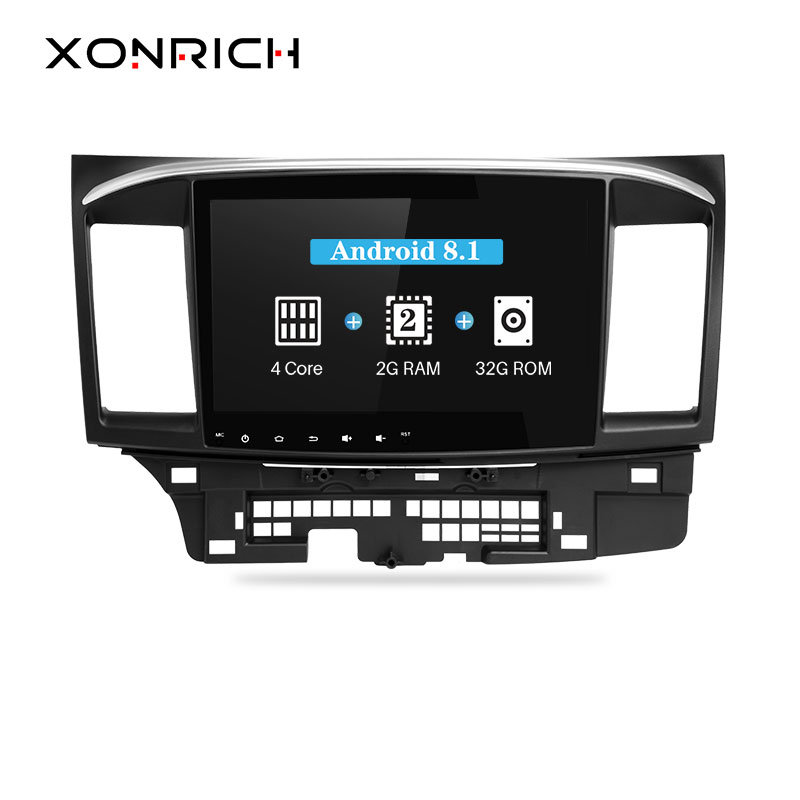 Xonrich 2 Din Android 8.1 Car DVD Player For Mitsubishi Lancer 2008-2015 10.1 inch 3G/4G GPS Radio Video Wifi Audio Sterero 9 x