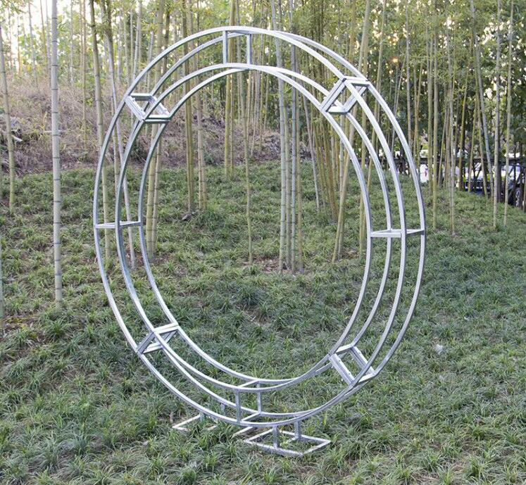 New type of circular iron-art arch frame vertical annulus hanging ring truss stage supplies wedding props