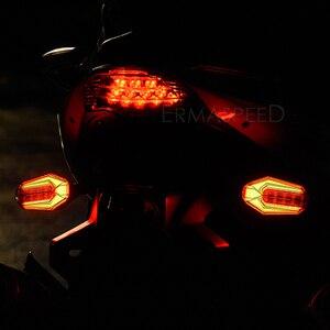 Image 5 - 2 sztuk motocykl kierunkowskazy LED migające światła uniwersalny wodoodporny ogon światła migacze hamulca Stop lampka sygnalizacyjna dla MSX 125