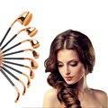 9 unids oval golf cepillo de dientes en forma de cepillo del maquillaje profesional fundación powder makeup brush kits pinceaux maquillage