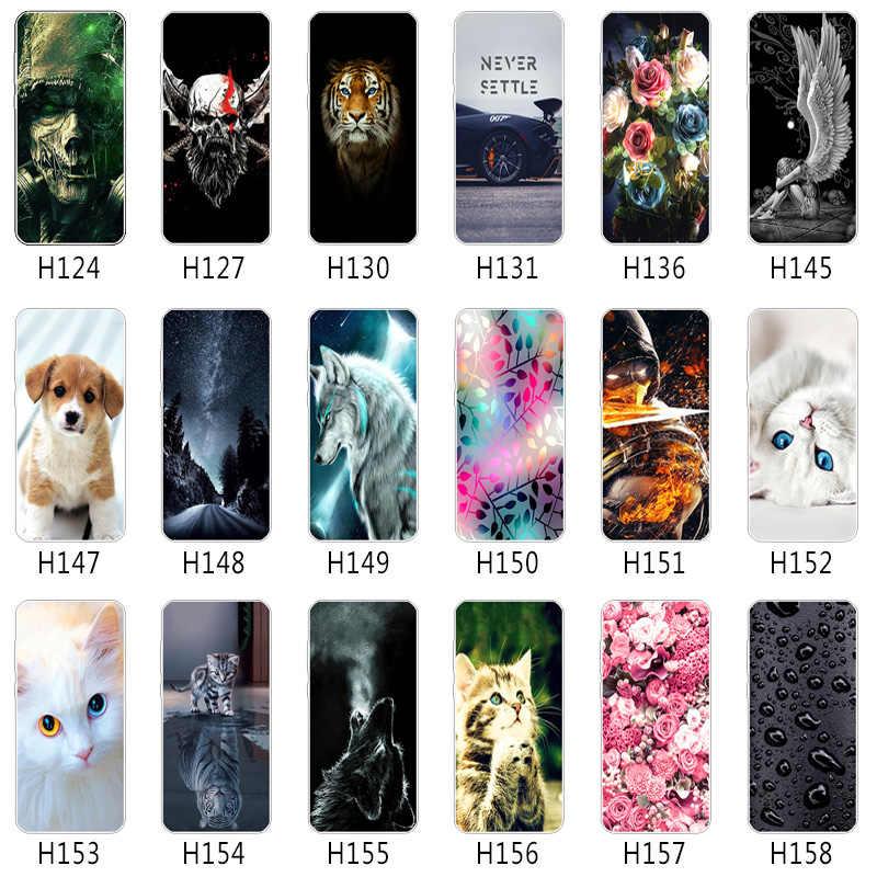 """Huawei P20 Lite Jel Tampon Telefon Kılıfları Yumuşak Silikon Huawei Nova için 3E Güzel Tasarım Esnek 5.84 """"Kauçuk mat Fundas"""