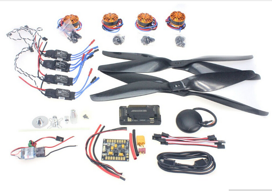 F15276-D DIY Spare kit : Motor + ESC + Props + APM2.8 + GPS for 650 4-Aix RC Drone Quadcopter Hexacopter Multi-Rotor Aircraft f15276 a rc hexacopter aircraft electronic kit 700kv brushless motor 30a esc 1255 propeller gps apm2 8 flight control diy drone