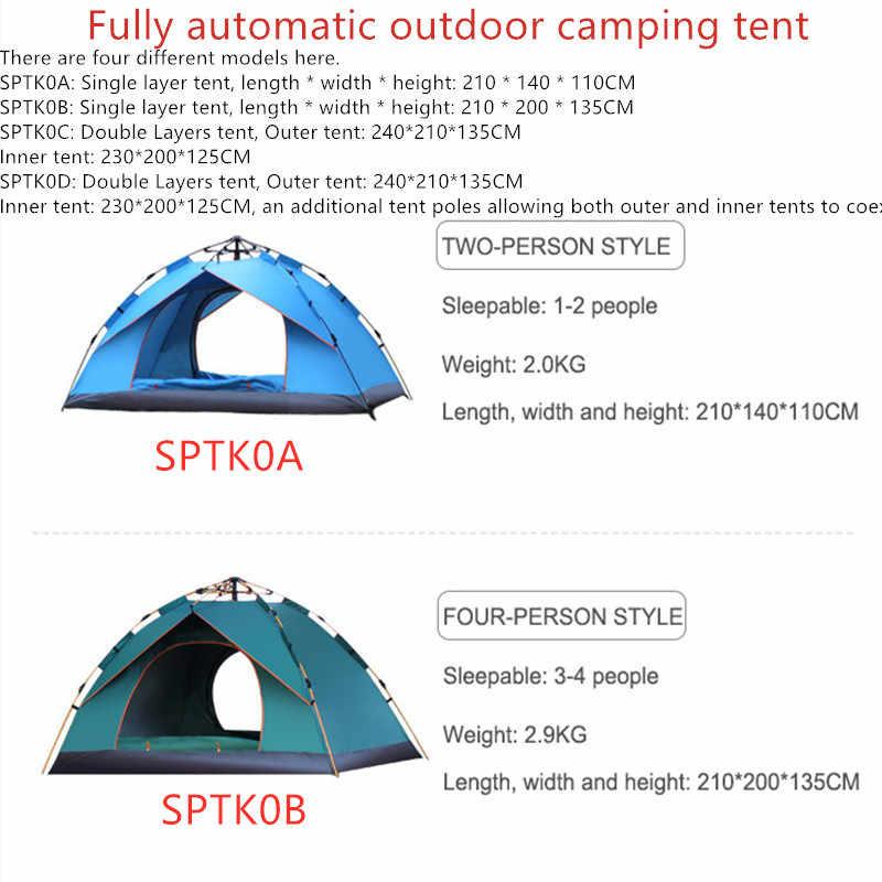 2019 Chất Lượng Cao Ngoài Trời Lều Cắm Trại Họ 1 2 3 4 Người Man Size Lớn Gấp Tự Động Đi Biển Đi Bộ Đường Dài Lều lớn