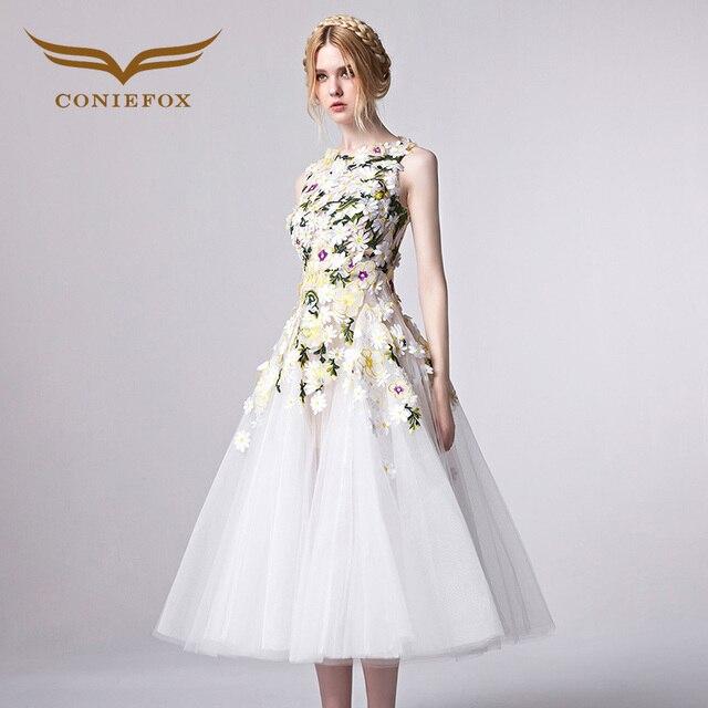 Coniefox 31301 Tee länge Abendkleid 2016 Vintage Kleid Schöne ...