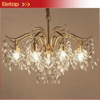 American Luxury Crystal Chandeliers Pastoral Crystal Lights Living Room Bedroom Chandeliers Post Modern Restaurant Crystal Lamp
