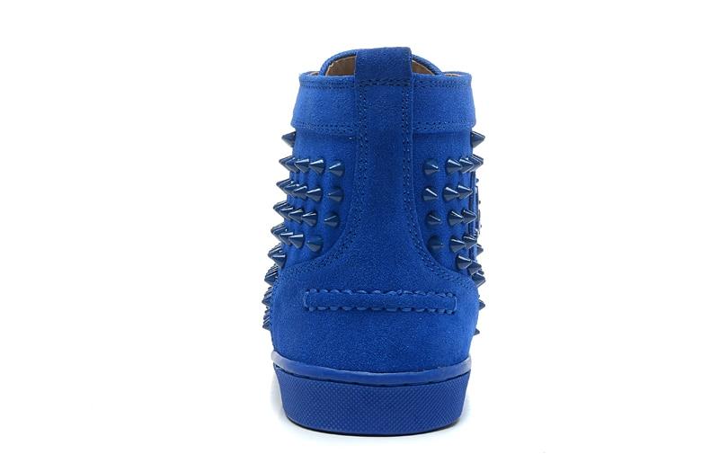 Shoes As Do Dedo Unisex Picture Blue Suede Pé Sapatos Spikes Casal Cravejado Casual Vermelho Grossa High Beertola Lazer De Redondo Flats Sola Top E6qFw1Z1x