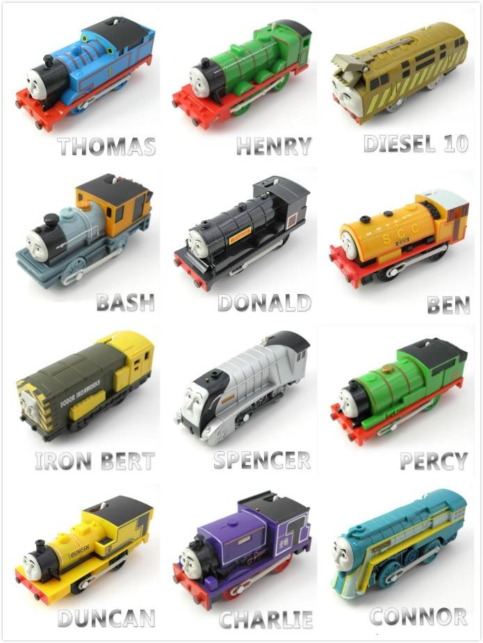 27 Style Electric Thomas Train Thomas And Friends Trackmaster Magnetic Tomas Locomotive Engine Railway Toys Boys