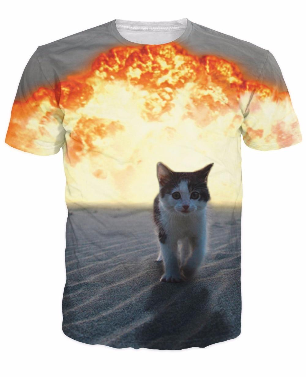 Aliexpress Buy Cat Explosion T Shirt cutest kitten walking