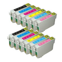 12x Compatible EPSON T0827 Ink Cartridge For Stylus Photo RX610 RX590 R270 R390 RX615 TX650 T50 T59 TX720 TX700