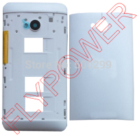 100% warranty Back Battery Cover Case Door Housing + Middle Frame For HTC ONE M7 Dual Sim 802t 802D 802W By Free Shipping