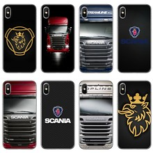 Scania Truk Logo untuk iPhone 8 7 6 S 6 Plus XR X XS Max SE 5 S 5c 5 4s 4 IPod Touch Soft Cover(China)