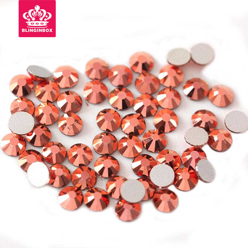 Mix Size SS3-SS30 Gold Rose AB Nail Art Rhinestones Luxury 3D Nails  Decoration for 605fb934f2fd