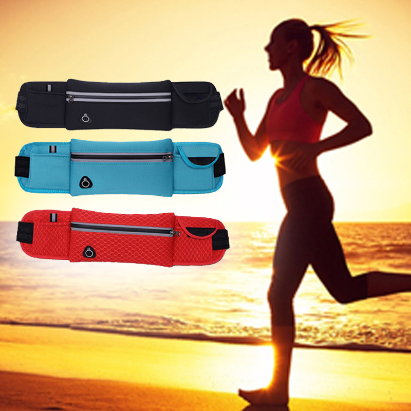 Hot Waterproof Running Waist Bag Outdoor Mobile Phone Holder Jogging Belt Belly Bag Women Gym Fitness Bag Lady Sport Accessories